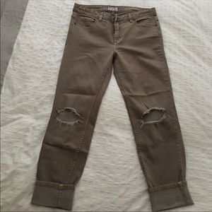Free People Skinny Jeans. Caffe color